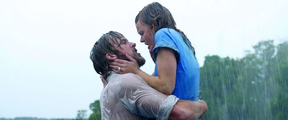 "PHOTO: Ryan Gosling, as Noah, and Rachel McAdams, as Allie, in a scene from ""The Notebook."""