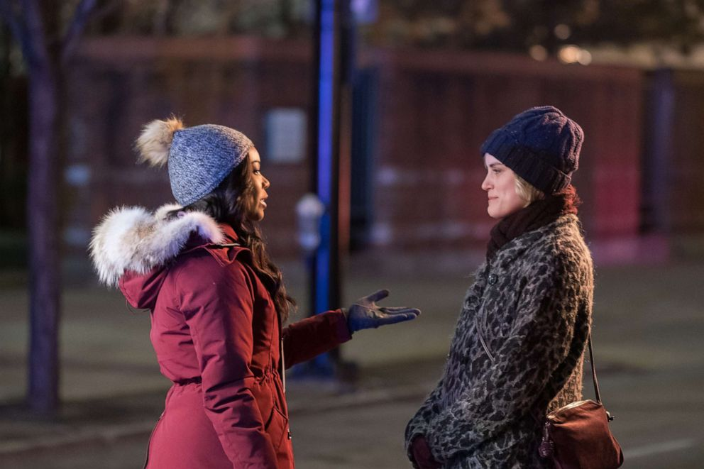 PHOTO: Gabrielle Union as Rebecca Parks and Taylor Schilling as Angela in the 2019 film, The Public.