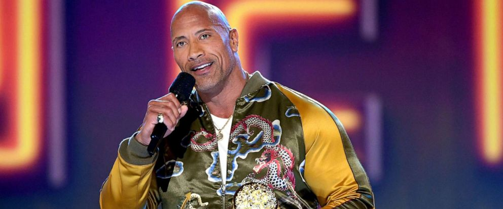 PHOTO: Dwayne Johnson accepts the MTV Generation Award onstage during the 2019 MTV Movie and TV Awards at Barker Hangar, June 15, 2019 in Santa Monica, Calif.
