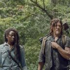 "Danai Gurira as Michonne and Norman Reedus as Daryl Dixon in ""The Walking Dead."""