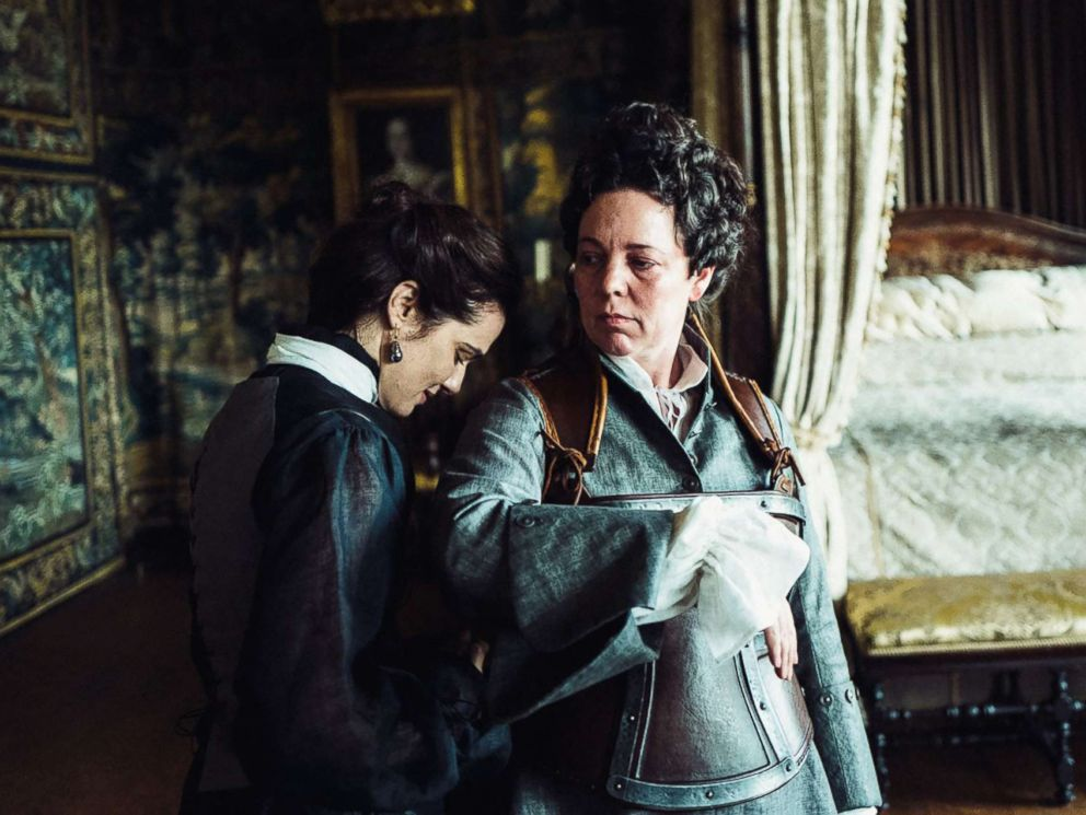 PHOTO: Rachel Weisz and Olivia Colman in the film, The Favourite.