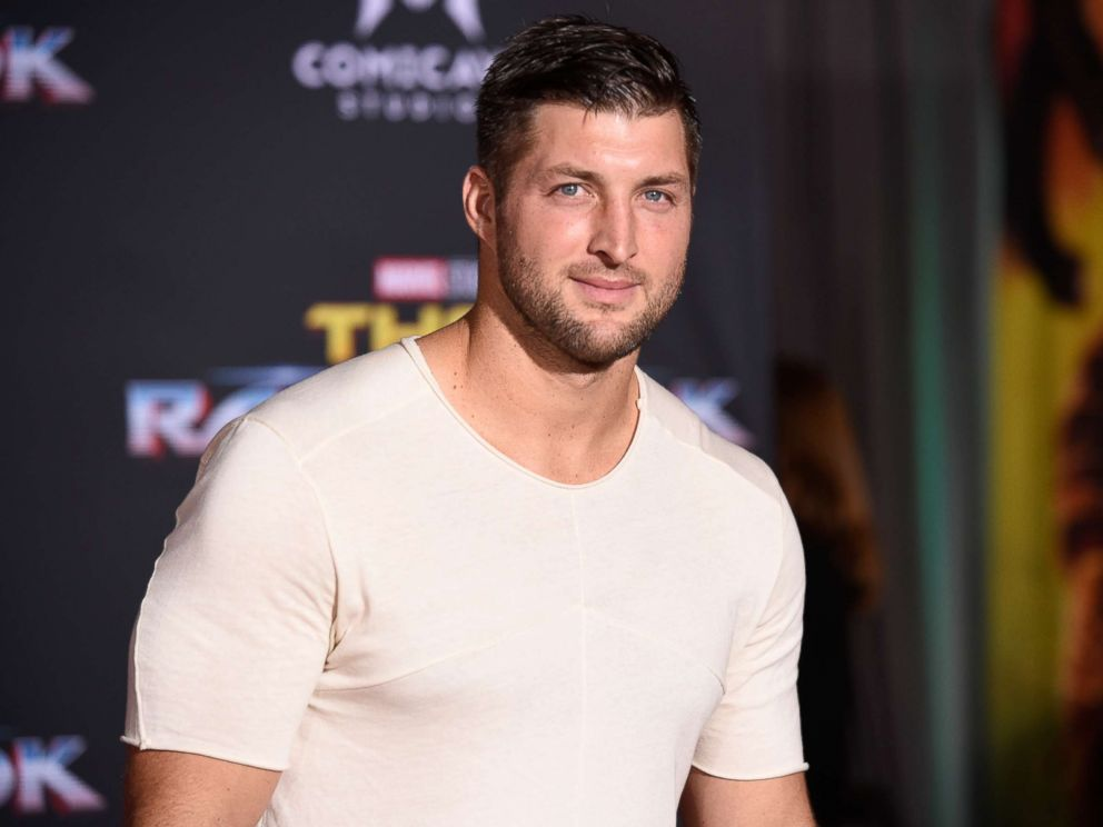 PHOTO: Tim Tebow arrives at the world premiere of Thor: Ragnarok at the El Capitan Theatre on Tuesday, Oct. 10, 2017, in Los Angeles.