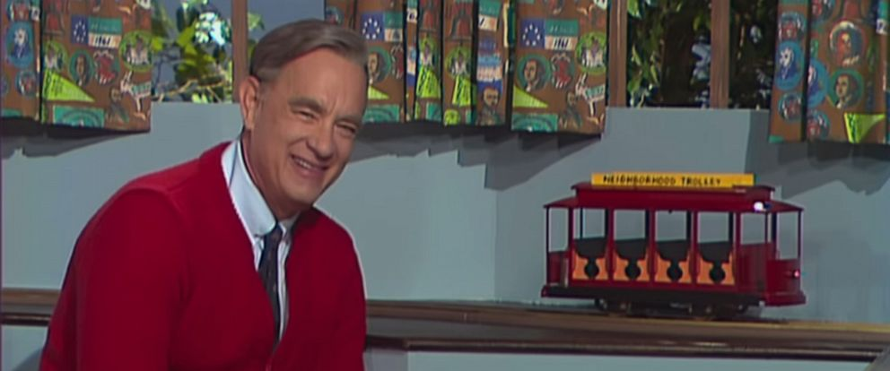 """PHOTO: Tom Hanks is seen portraying Fred """"Mister"""" Rogers in the trailer for the upcoming film, """"A Beautiful Day in the Neighborhood."""""""