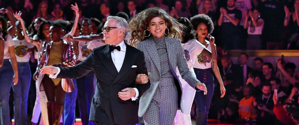 PHOTO: Fashion designer Tommy Hilfiger and Zendaya Coleman walk the runway during the Tommy Hilfiger TOMMYNOW Spring/Summer 2019 : TommyXZendaya Premieres at Theatre des Champs-Elysees, March 2, 2019 in Paris.