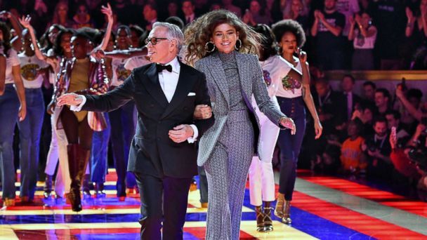 2281329c Zendaya's Tommy Hilfiger show features iconic all-black model lineup.  VIDEO: The iconic lineup of models included living legends such as Grace  Jones, ...