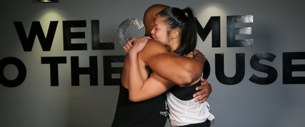 "PHOTO: Tone House founder Alonzo Wilson coached Christiana Bau in ""GMA"" Train My Way."