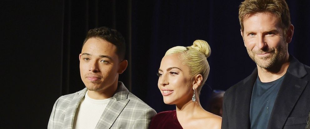 "PHOTO: Actors Anthony Ramos, Lady Gaga, director Bradley Cooper, attend 2018 Toronto International Film Festival ""A Star Is Born"" Press Conference at TIFF Bell Lightbox, Sept. 9, 2018, in Toronto."