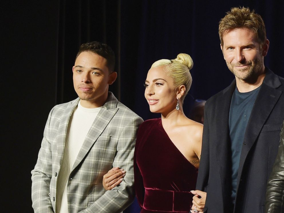PHOTO: Actors Anthony Ramos, Lady Gaga, director Bradley Cooper, attend 2018 Toronto International Film Festival A Star Is Born Press Conference at TIFF Bell Lightbox, Sept. 9, 2018, in Toronto.