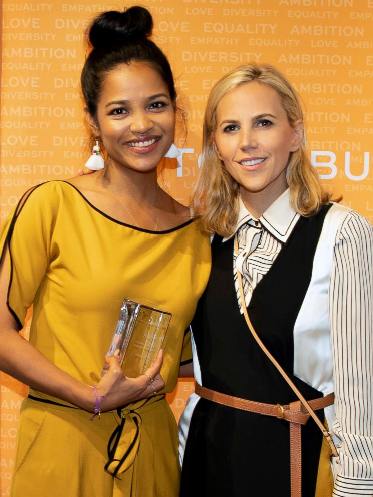 PHOTO: Designer Tory Burch poses with Tea Drops founder Sashee Chandran.