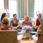 Designer Tory Burch speaks with female entrepreneurs.
