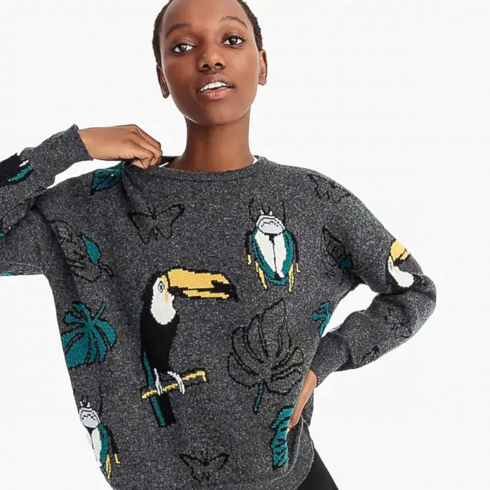 PHOTO: Demylee X J.Crew Toucan Pullover Sweater, $168