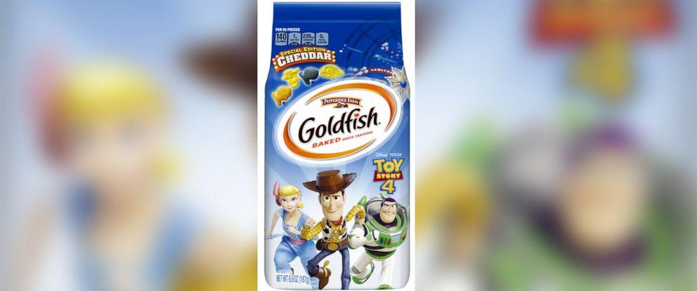 "PHOTO: New ""Toy Story 4"" inspired Goldfish crackers."