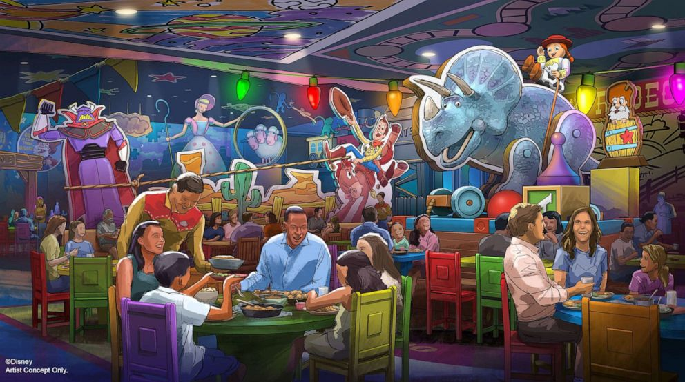 PHOTO: A rendering of the new restaurant coming to Toy Story Land, Roundup Rodeo BBQ.