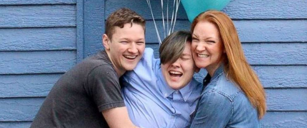 PHOTO: Adrian Brown, 20, is photographed with his mom, Heather Green and brother, Lucas Brown, 17.