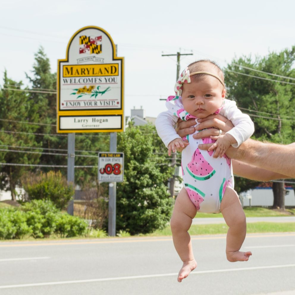 PHOTO: Harper Yeats, 5 months may have just become the youngest member of the All 50 States Club.