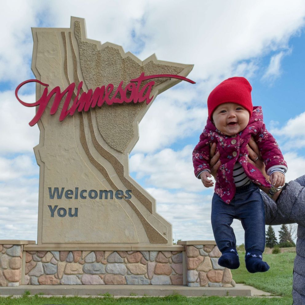 PHOTO: Harper Yeats, 5 months, has been accompanied by her parents, Cindy Lim and Tristan Yeats, on what has been a 4-month road trip across the United States.