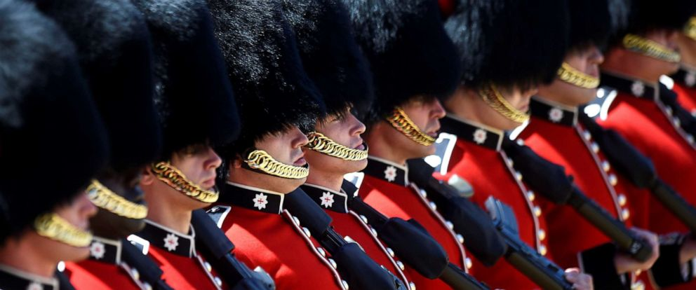 PHOTO: The Household Division rehearse Trooping the Colour for the Colonels Review ahead of the Queens birthday parade next week, on Horseguards Parade in London, June 1, 2019.