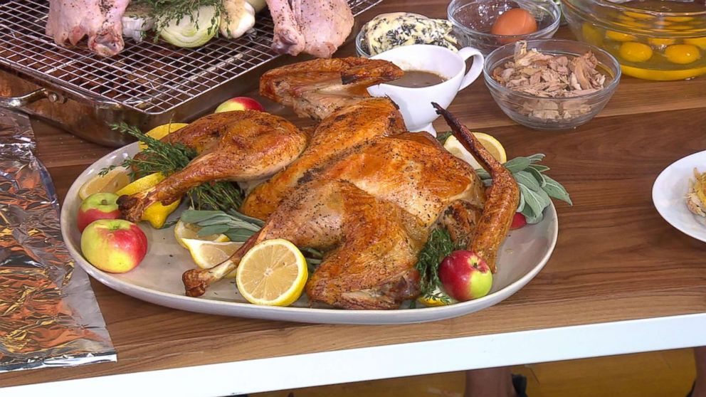 """Michael Symon shares his spatchcocked turkey recipe for Thanksgiving on """"GMA""""."""