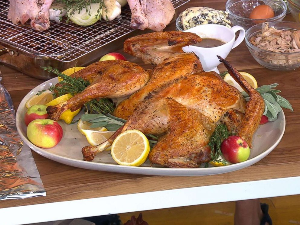 PHOTO: Michael Symon shares his spatchcocked turkey recipe for Thanksgiving on GMA.