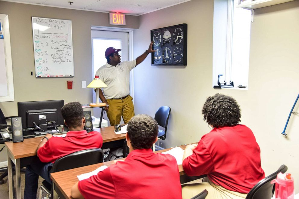 PHOTO: A graduate of the Tuskegee Next program, Kevin Lindsey, is pictured here now teaching at the program.