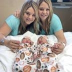 Jalynne Crawford and Janelle Leopoldo with their baby boys born the same day.