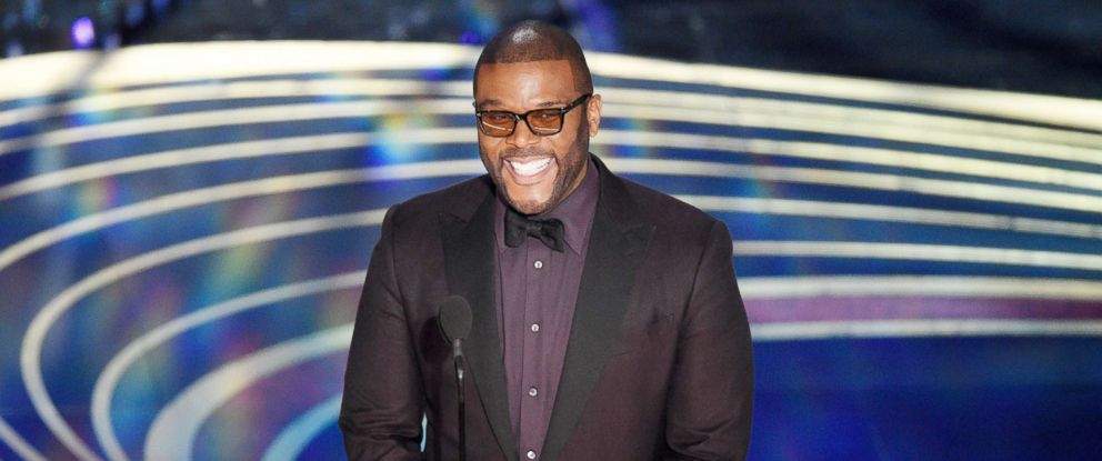 PHOTO: Tyler Perry presents the award for best cinematography at the Oscars, Feb. 24, 2019, at the Dolby Theatre in Los Angeles.