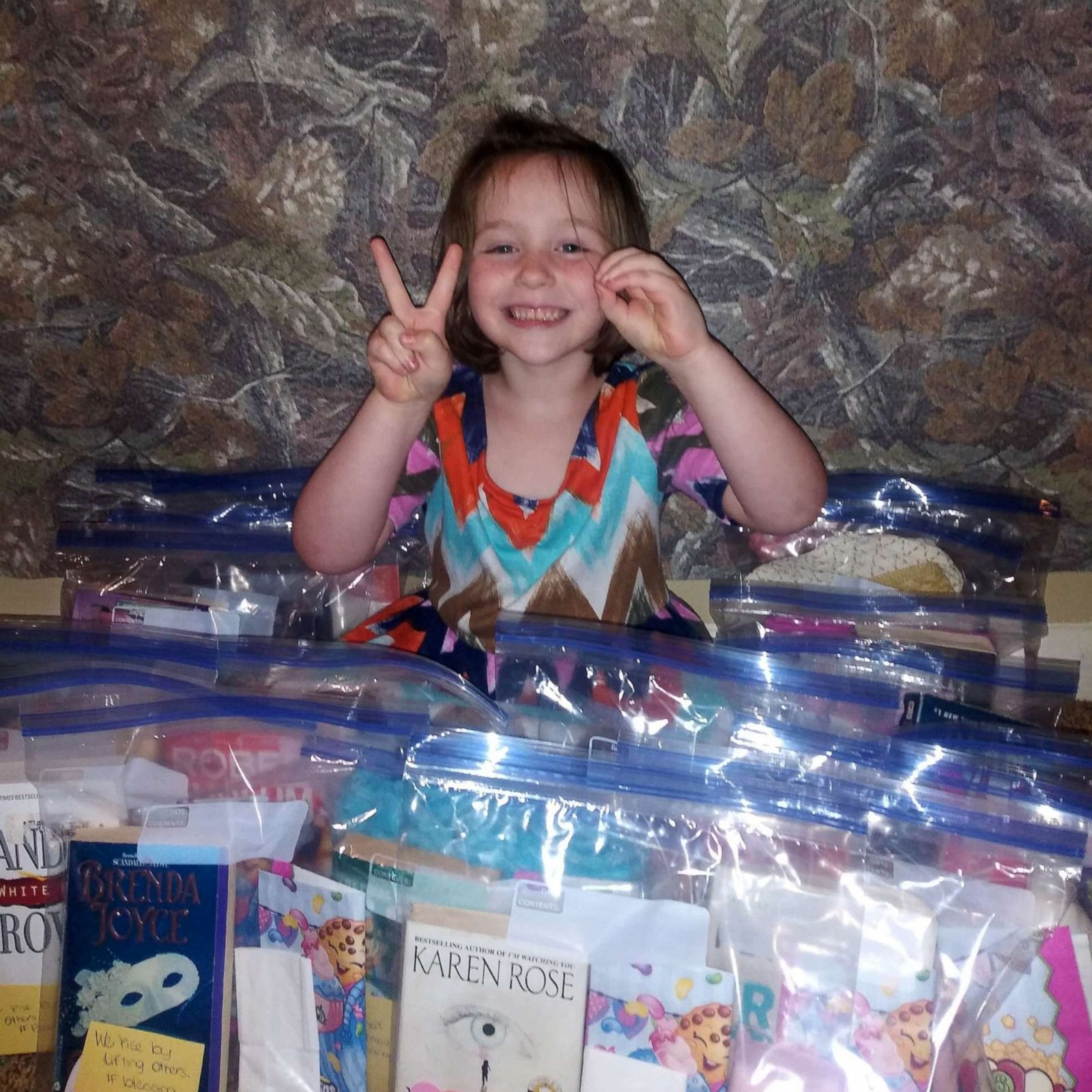 This 5-year-old uses her allowance money to make 'blessing bags' for
