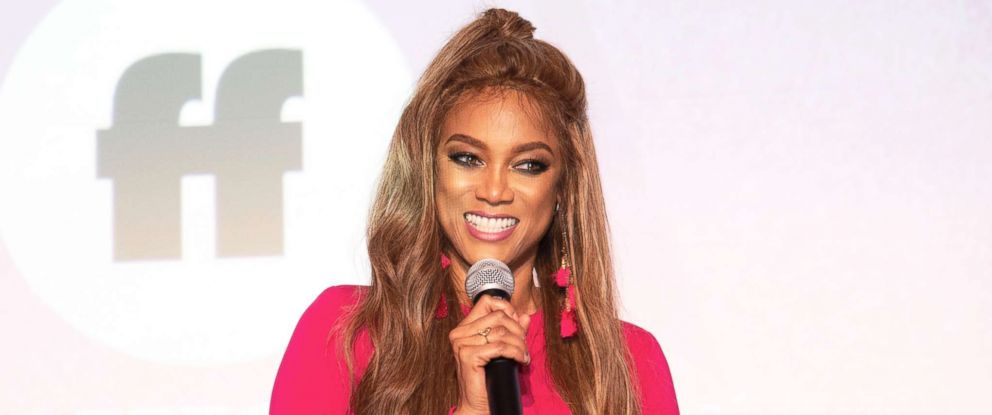 "PHOTO: Tyra Banks attends the pink carpet premiere of ""Life-Size 2: A Christmas Eve,"" Nov. 27, 2018."