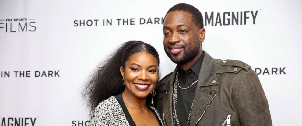 "PHOTO: Gabrielle Union and Dwyane Wade attend the premiere of ""Shot In The Dark"" during NBA All-Star Weekend, Feb. 15, 2018, in Los Angeles."