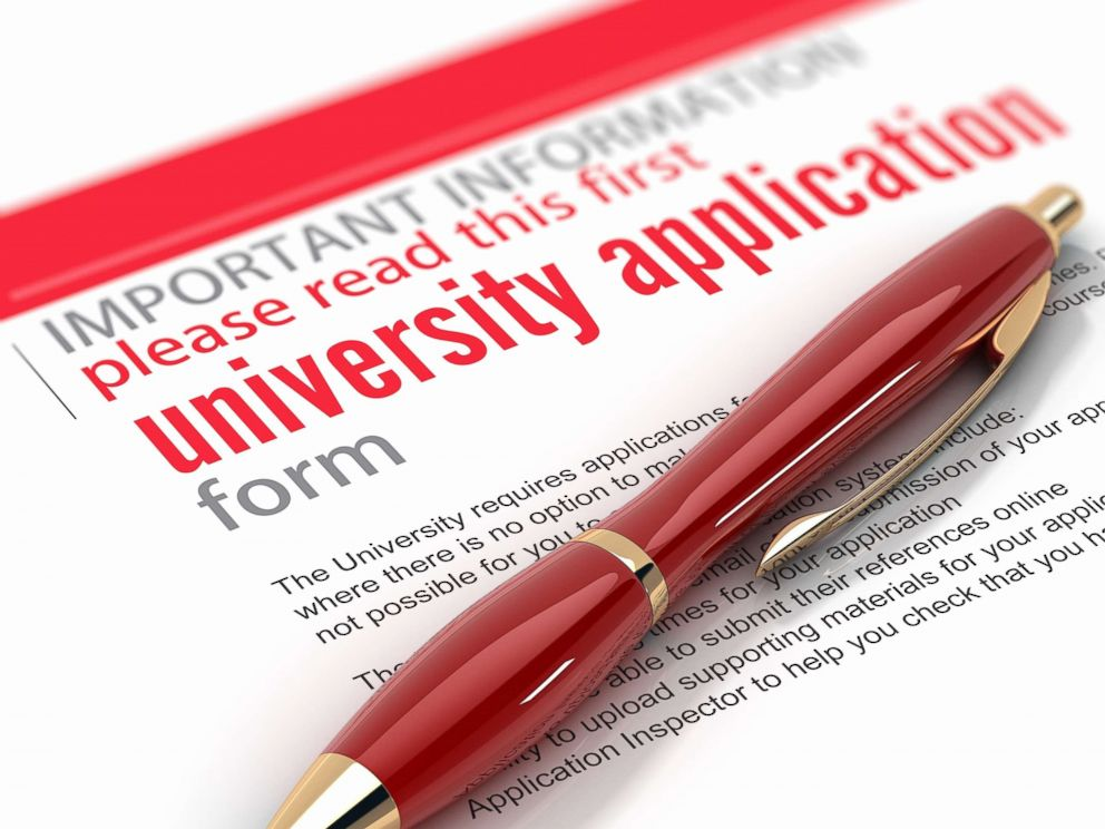 PHOTO: An undated photo illustration of a university application form.