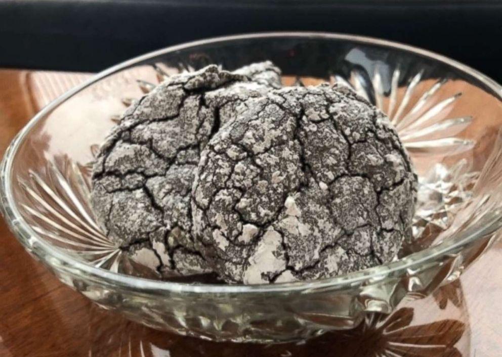PHOTO: Black Cocoa Amaretti cookies.