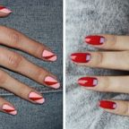Nail art ideas from the Paintbox manicure studio are illustrated in two handout images.