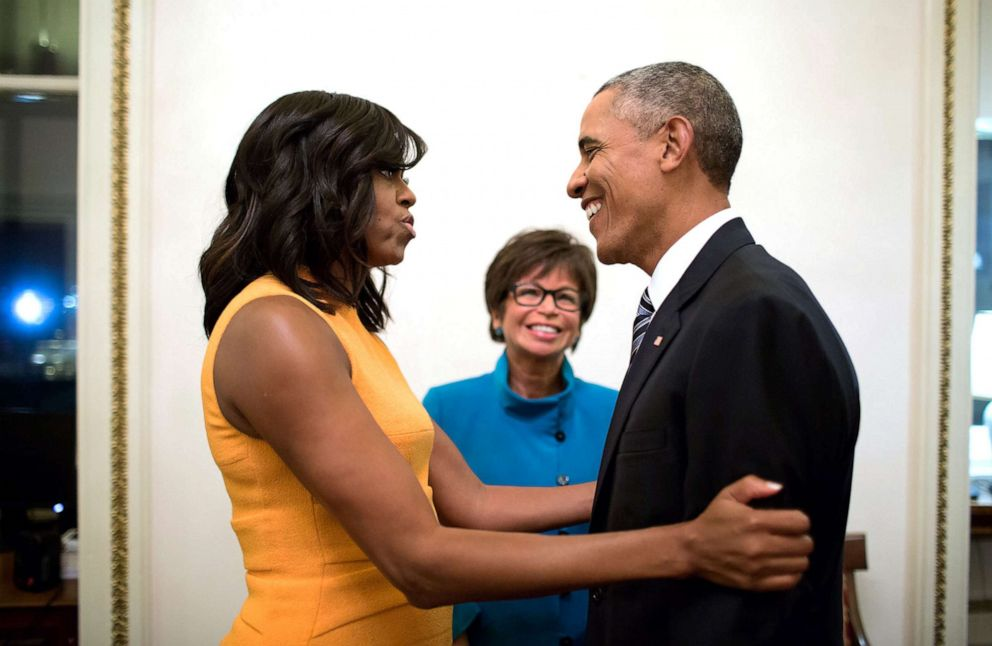 PHOTO: Valerie Jarrett with the Obamas at the Presidents last state of the union.