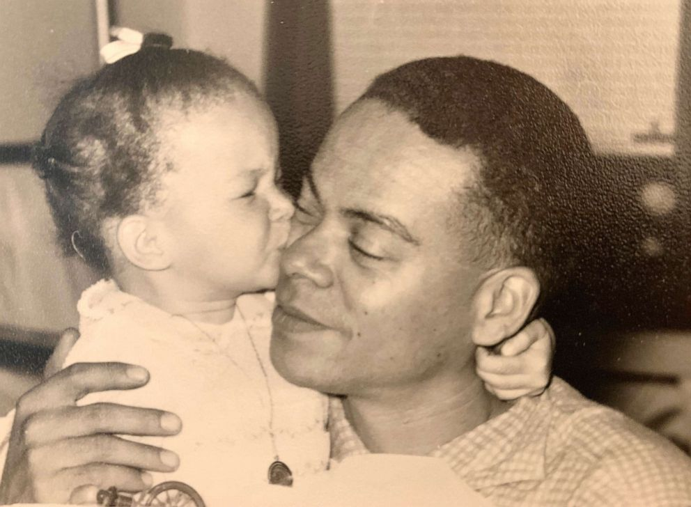 PHOTO: Valerie Jarret hugs her father in this undated photo.