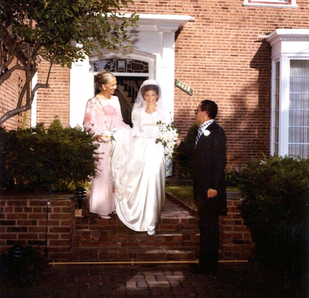 PHOTO: Valerie Jarrett with her parents on her wedding day in 1983.