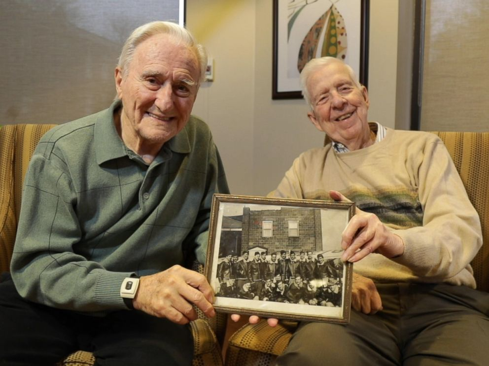 PHOTO: Wes Piros (left) and Bob Adams (right) are two U.S. Air Force vets who opened up in an interview with GMA.