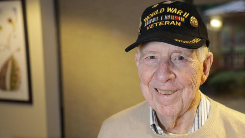 PHOTO: Bob Adams, 95, a U.S. Air Force veteran opens up in an interview with GMA.
