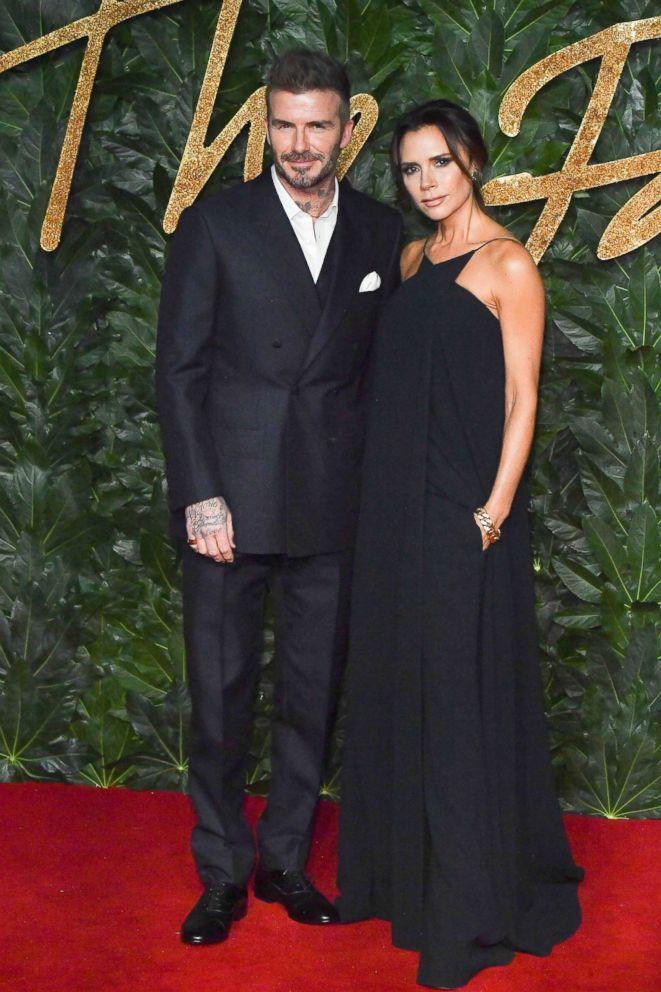PHOTO: David Beckham and Victoria Beckham attend the Fashion Awards 2018 at Royal Albert Hall, Dec. 10, 2018, in London.