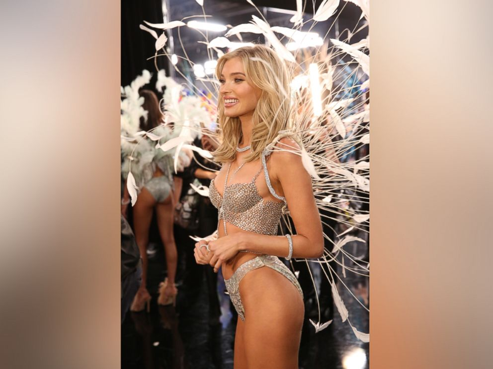 PHOTO: Elsa Hosk wears the coveted Million Dollar Bra backstage at the 2018 Victorias Secret Fashion Show in NYC.