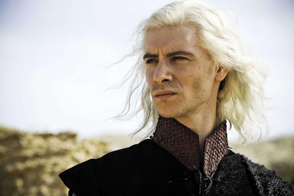 PHOTO: Harry Lloyd, as Viserys Targaryen, in a scene from Game of Thrones.