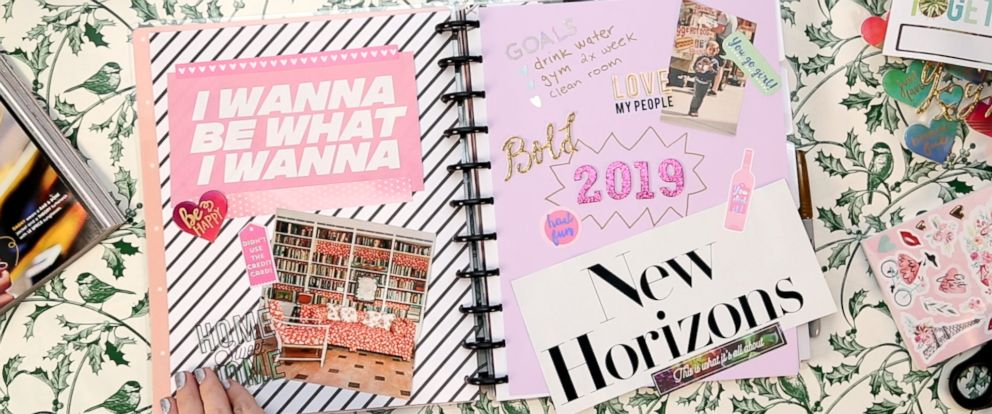 PHOTO: Make your own DIY vision board planner to help achieve your goals in 2019.