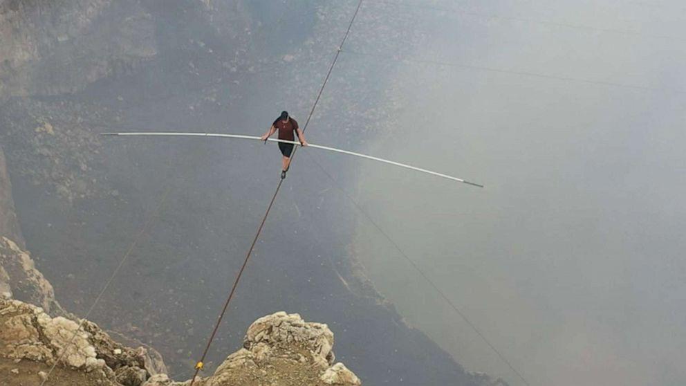 Aerialist Nik Wallenda details preparations for dangerous volcano tightrope walk
