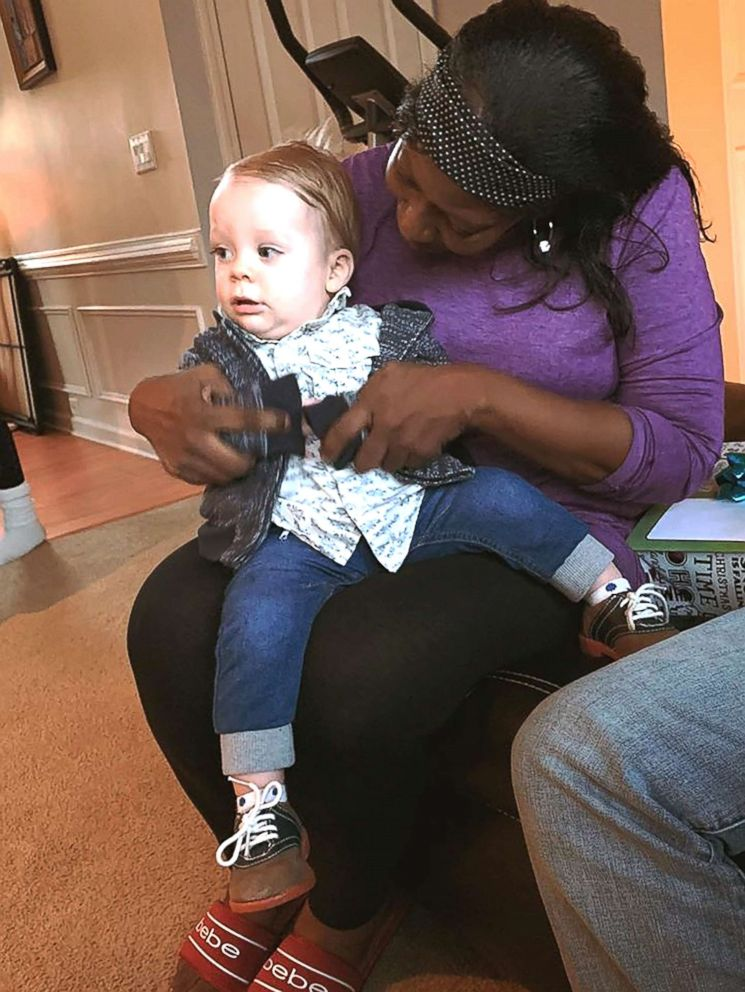 PHOTO: Vonchelle Knight holds Reese, the youngest son of Amanda Hayhurst.