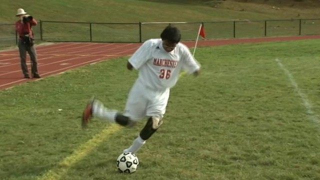 VIDEO: Jorge Dyksen, 16, is starting forward on his New Jersey high school?s soccer team.