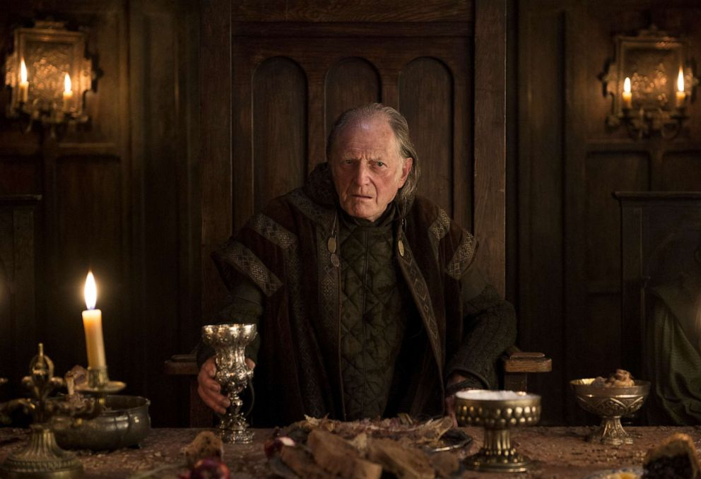David Bradley, Walder Frey, in a scene from 'Game of Thrones.'