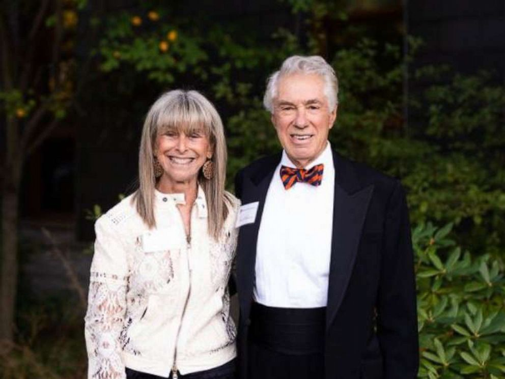 PHOTO: David and Jane Walentas are pictured at the University of Virginia on Oct. 12, 2019, where they announced a $100 million gift to the university.