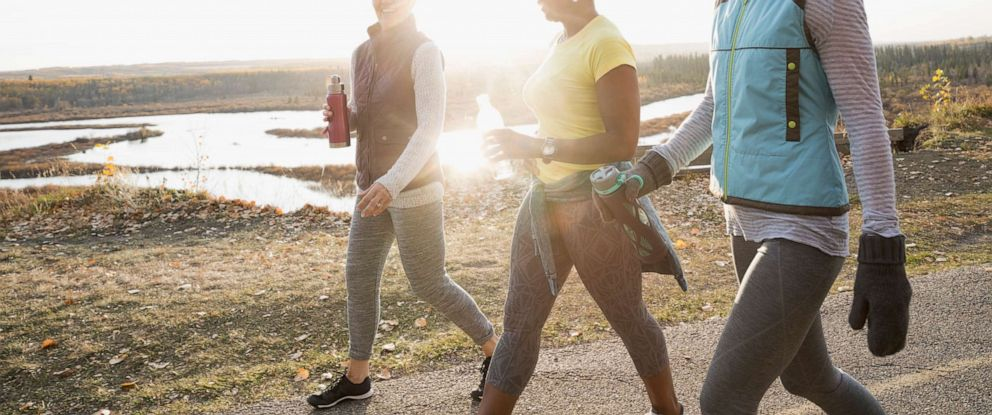 PHOTO: An undated stock photo of women walking for exercise.