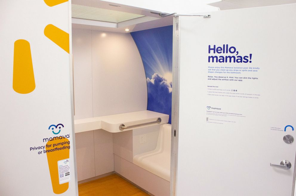 PHOTO: A Mamava pod is pictured at a Walmart store in Bentonville, Arkansas.
