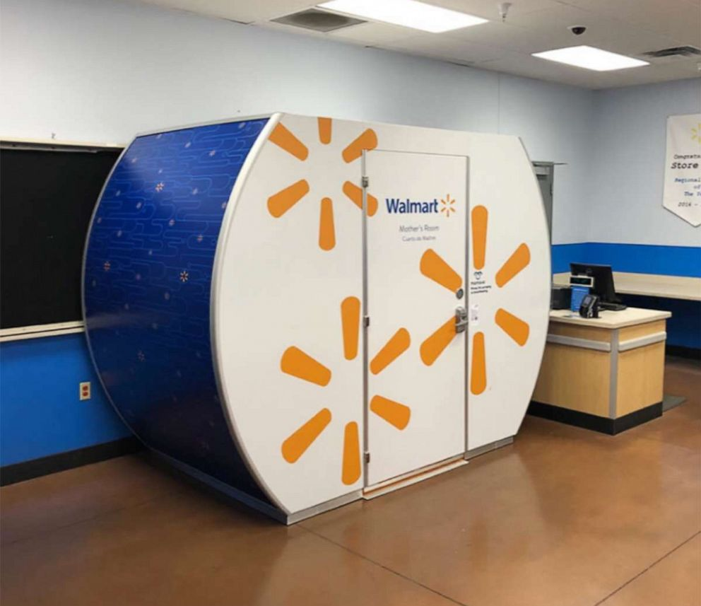PHOTO: A Mamava pod is pictured at a Walmart store in Gilbert, Arizona.