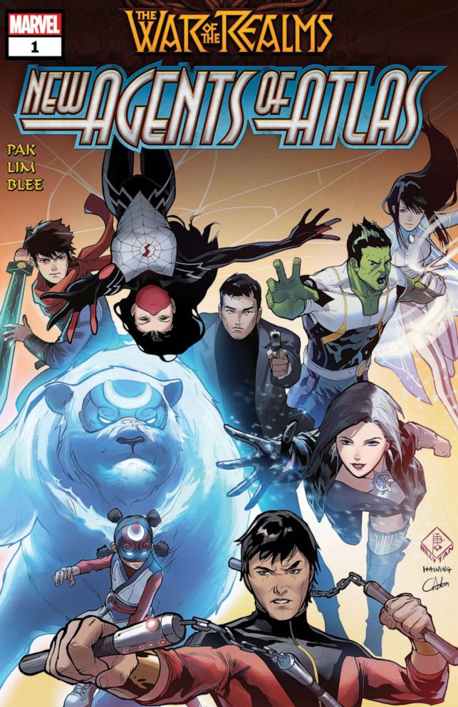 PHOTO: War of the Realms: New Agents of Atlas #1. Artwork by Billy Tan